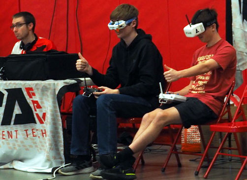 Drone team dominates competition