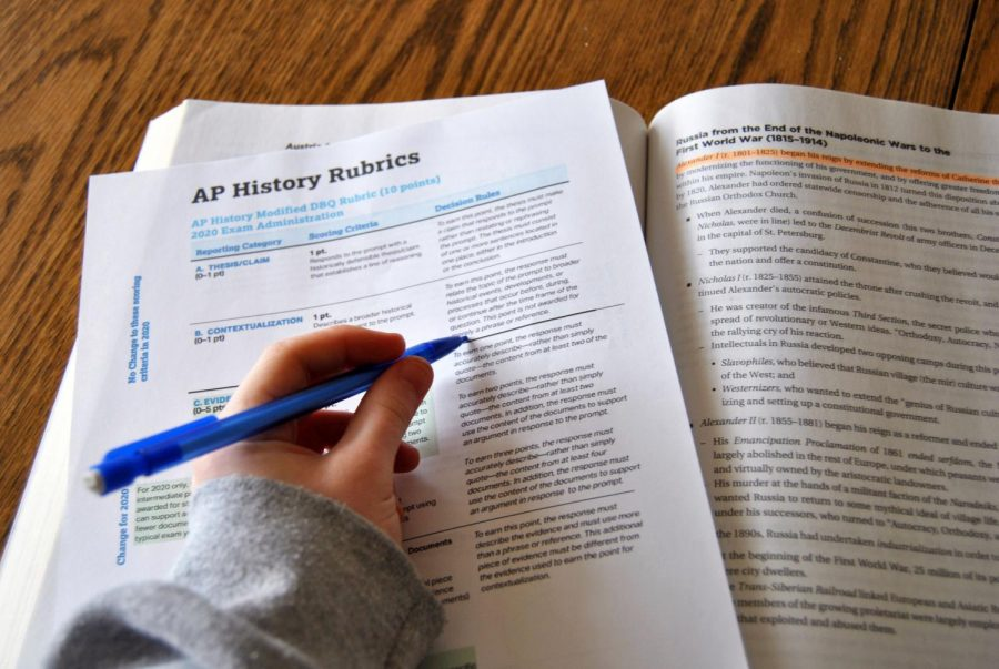 Photo illustration by Molly Schochet. The College Board released the online Advanced Placement testing schedule and format April 2. Advanced Placement testing will take place from May 11 to May 22.