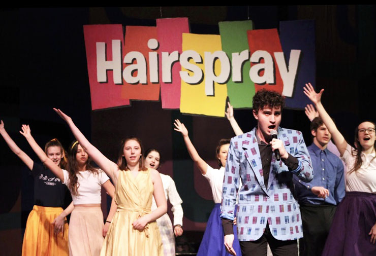Junior+Leo+Dworsky+and+other+members+of+the+%22Hairspray%22+cast+perform+their+final+dress+rehearsal+Feb.+19.+Dworsky+was+announced+as+a+Minnesota+Varsity+Showcase+Artist+for+Classical+MPR+of+2020.+