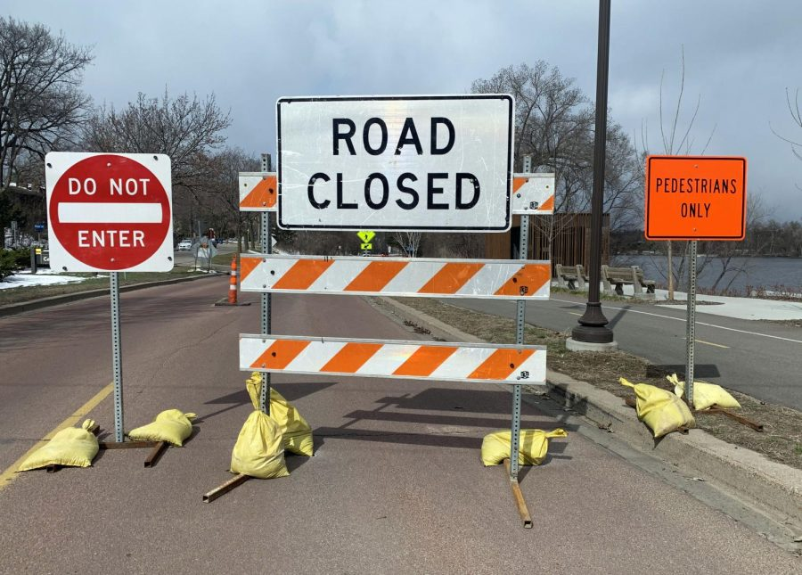 Sections of Cedar Lake Parkway, East Bde Maka Ska Parkway, Lake Harriet Parkway, Lake of the Isles Parkway, Lake Nokomis Parkway, Main Street SE and West River Parkway will be closed to motorized traffic and open to pedestrians until the stay-at-home executive order is lifted May 4. This gives pedestrians more space to maintain an appropriate social distance.