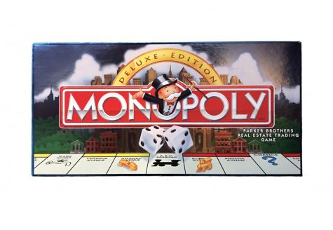 "Pictured is the game ""Monopoly."" The game is recommended for ages 8 and older, and it is played with two to 10 people with teams."