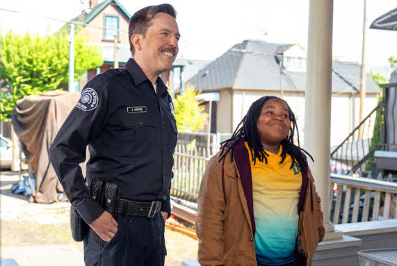Fair use from Netflix. James Coffee (Ed Helms) taking Kareem Manning (Terrence Little Gardenhigh) back to his home. 'Coffee and Kareem' was released April 3.