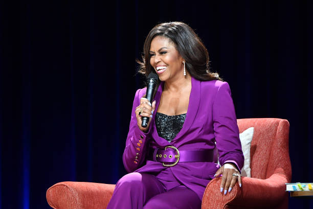 Fair use from Getty Images. Former First Lady Michelle Obama travelled all over the United States for up-close interviews about her book