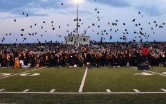 The class of 2019 throws its caps in the air after graduation June 6. Minnesota Department of Health and Department of Education announced May 8 that large scale in-person graduations are prohibited for the class of 2020 due to the COVID-19 pandemic.