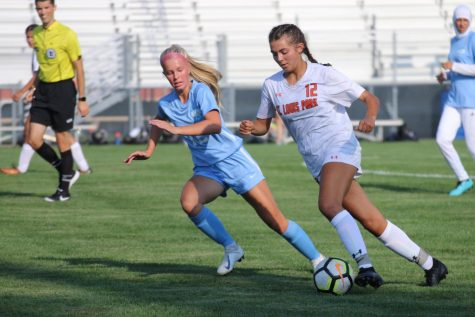 Junior Alma Beaton attacks on offense Aug. 27. Park beat Bloomington Jefferson 1-0 in its first of two contests this year.