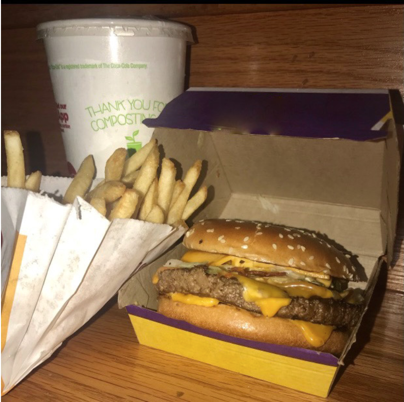 McDonald's and Cactus Jack Records recently collaborated to bring the Travis Scott meal. The Travis Scott meal consists of a quarter pounder with lettuce and bacon along with an order of medium fries and Sprite