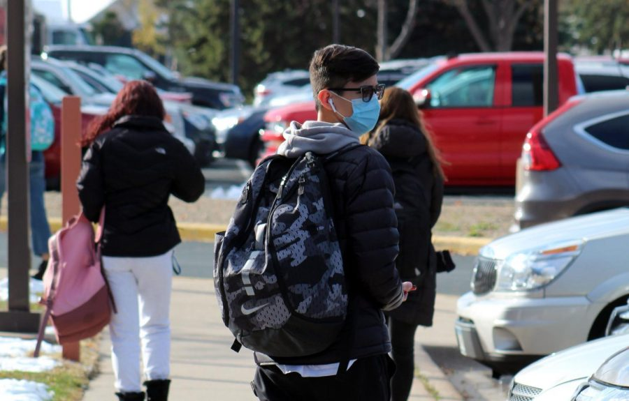 Students leave school after their final day of hybrid learning. The School Board voted for Park to transition back to distance learning starting Nov. 16.