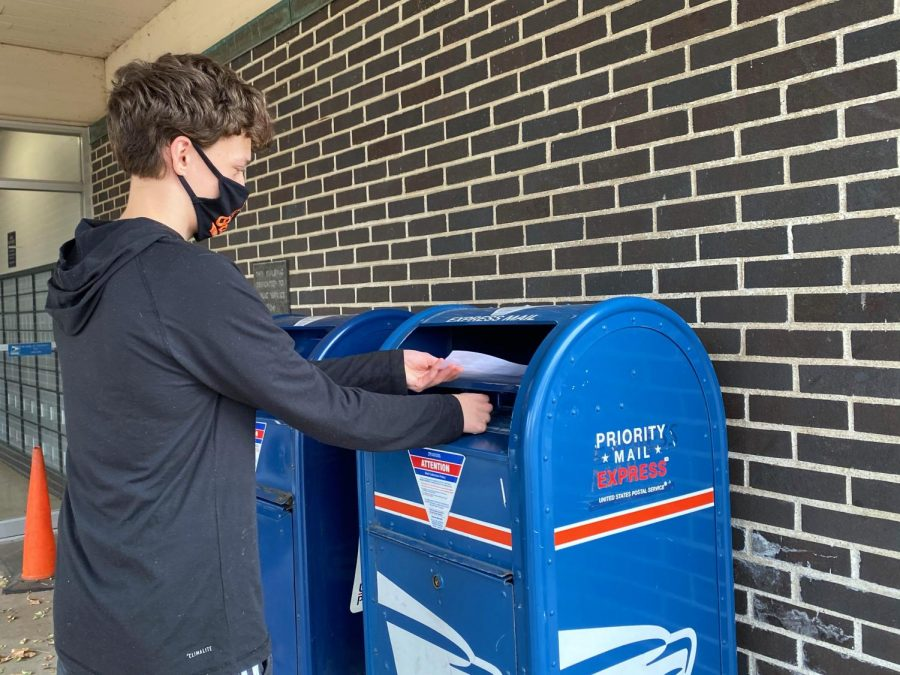 Photo illustration by Molly Schochet. Because of an Oct. 30 ruling by the Eighth U.S. Circuit of Appeals judges, the St. Louis Park Elections Office recommends people drop their ballots at City Hall instead of mailing them in.