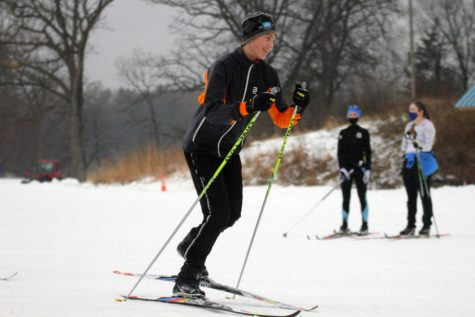 A community member skiis at Theodore Wirth Park Dec. 23. Skiing is a great way to stay active while fitness centers are closed.