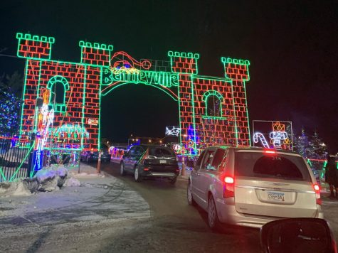 "Cars enter the Bentleyville ""Tour of Lights"" exhibit in Duluth Dec. 22. The event costs $10 per entrance vehicle, food donations are also encouraged."