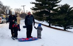 Student and families sled at Aquila Park as a part of Sno Daze Week Feb. 23. Sledding was the only in-person event during the Week.