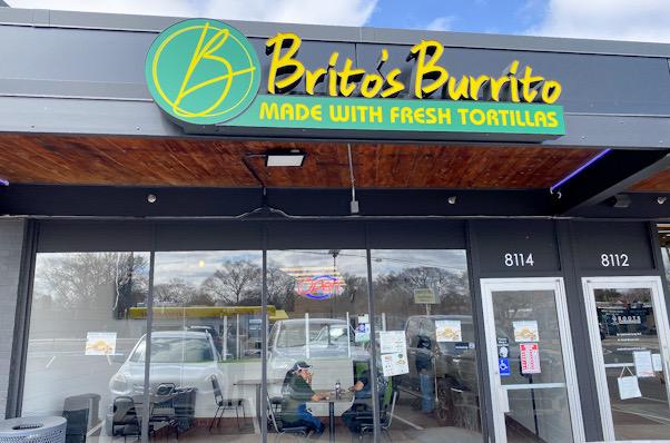 The new Brito's Burrito restaurant in the Texa-Tonka neighborhood March 31. Brito's Burrito's grand opening was March 31.