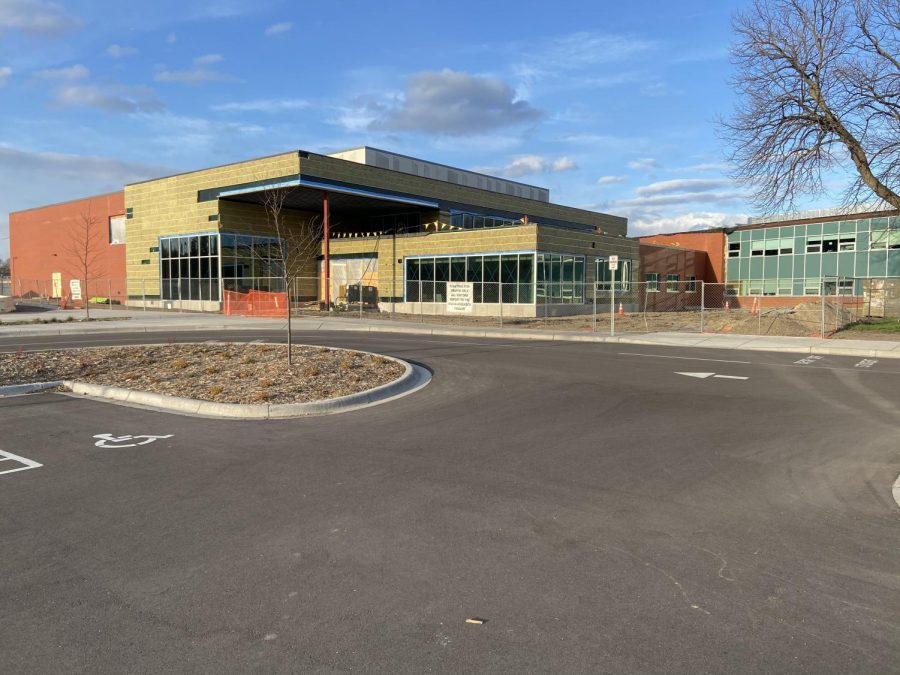 The construction of the middle school Performing Arts Center nears completion as it was part of the 2017 $100.9 million referendum. The district's increasing material across all of its remaining projects has forced district administrators to search for solutions.