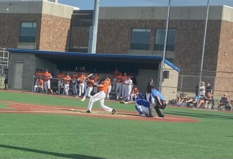Sophomore Zach Helfman up to bat June 9. Park played Hopkins in sections and lost blank - blank.
