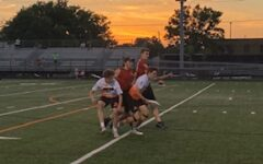 Junior Danny Shope scores a point June 10. Boys' ultimate played Maple Grove in conference finals.