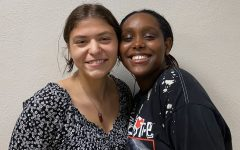 Seniors and co-presidents of Girls United Gracia Rettig and Semona Robel pose for a photo Sept. 16. Girls United is a non-profit organization created to support girls.