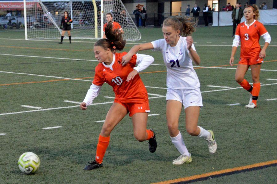 Girls' soccer advances on OT goal